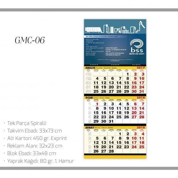 promosyon-promosyon ürünleri-promosyon takvimler-2018 takvim-promosyon 2018 gemici takvimi GMC 06