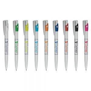 Promosyon Kalem kiki ekoline 392ew, plastik tükenmez kalem